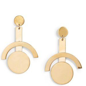 Lele Sadoughi Metallic Telescope Drop Earrings